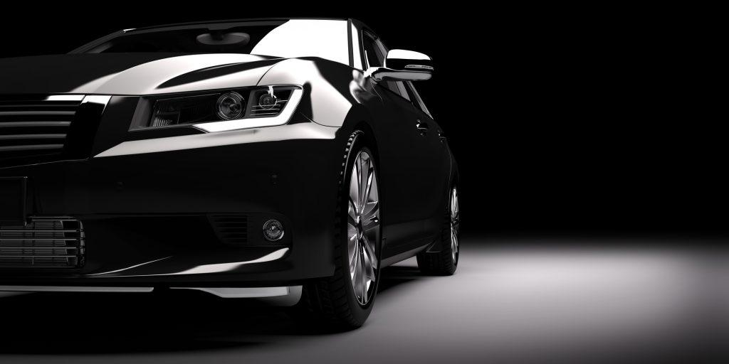 New black metallic sedan car